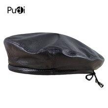 Pudi HL197 כובע כומתת עור לאביב של הגבר החדש סגנון של כובע יכול להתאים את חבל עור כבשים באיכות גבוהה עיצוב.