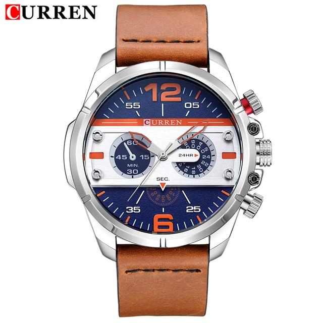 2016 CURREN Hombres Reloj de Cuarzo Relojes de Primeras Marcas de Lujo Famoso Reloj Hombre Reloj Reloj Luminoso reloj Masculino Del Relogio 5