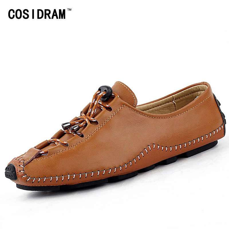 Brand Designer Men Loafers Genuine Leather Men Casual Shoes Flats Moccasins Soft Bottom Comfortable Driving Shoes Male RMC-386 handmade genuine leather men s flats casual haap sun brand men loafers comfortable soft driving shoes slip on leather moccasins