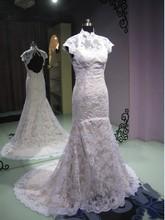 casamento sexy backless highneck vestido de noiva renda 2016 fashionable romantic bridal gown lace wedding Dress free shipping
