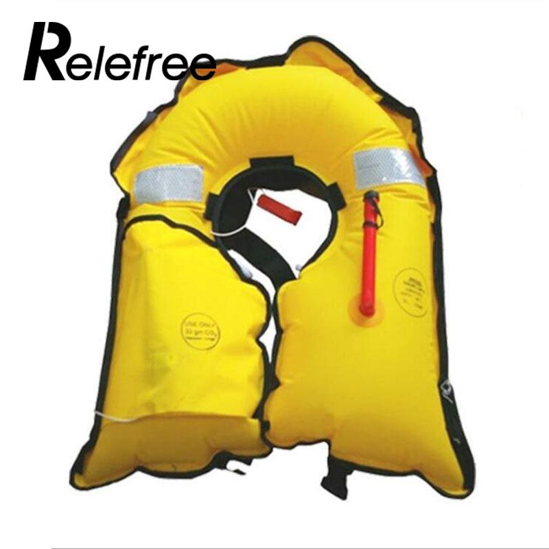 relefree Adult Automatic Inflatable Life Jacket 150N PFD Sea Sailing Boating Swimming Quick Inflate Life Vest Safety Survival neoprene surfing floating life vest rafting snorkeling pfd inflatable kids women men life jacket swimwear swimming jacket life