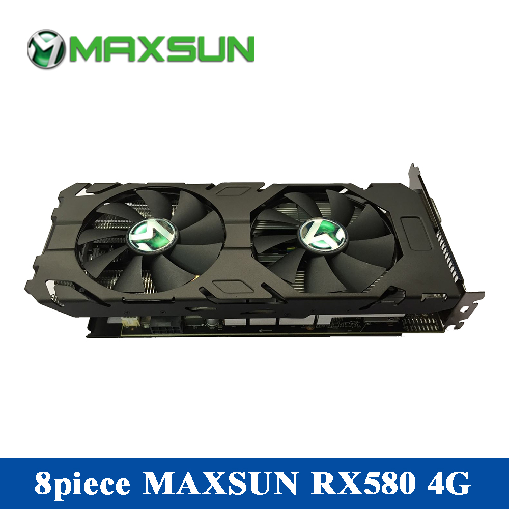 8piece MAXSUN RX580 4G Graphics Cards Packaged For Sale