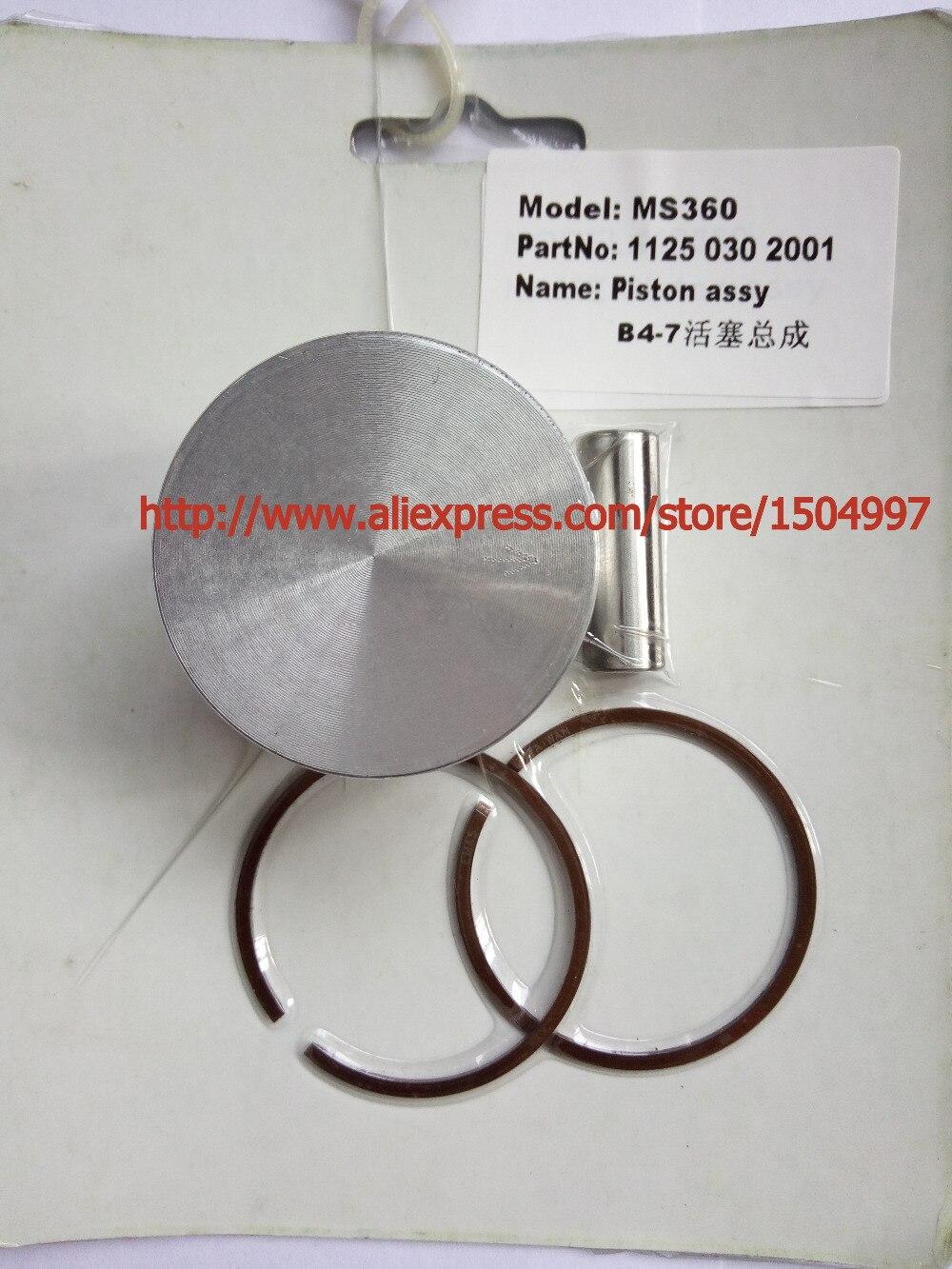 Piston Kit With Pin Rings Clips Assy Set Kit For  Kolben Fur 036 MS360 MS 360 48mm Piston