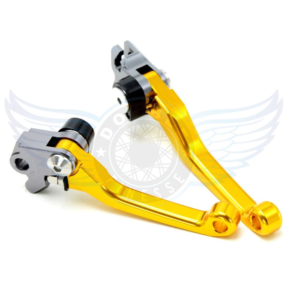 ФОТО motorcycle Pivot Brake Clutch Levers cnc brake clutch lever For Kawasaki KX250F 2005 2006 2007 2008 2009 2010 2011 2012