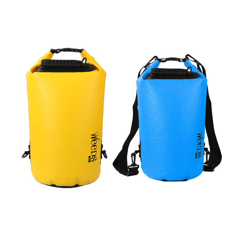 20L Outdoor PVC Waterproof Dry Bag Durable Lightweight Diving Floating Camping Hiking Swimming Backpack Travel Bags  SS environmentally friendly pvc inflatable shell water floating row of a variety of swimming pearl shell swimming ring