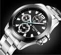 Марка Оригинал Skone Часы 7063 Моды для Мужчин Спортивные Часы Из Нержавеющей Стали Кварцевые Наручные Часы Relogio мужской