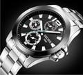 Brand Original Skone Watch 7063 Men Fashion Sports Watch Stainless Steel Quartz Wristwatch Relogio Masculino