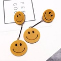 Free shipping Acrylic laser Funny Smile Face High Quality Stud Earrings For Women Fast Shipping