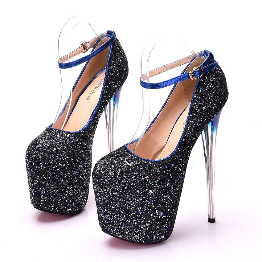 Women Black Nude heels 19m Super High-heel 9cm Platform peep toe Thin Heels  Party Fashion high heel Sandals Plus Size 34-43USD 69.31 pair 14a5da698f82