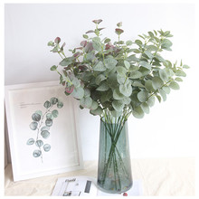 INS Nordic eucalyptus money leaf artificial flower home decoration wedding plant wall fake flowers