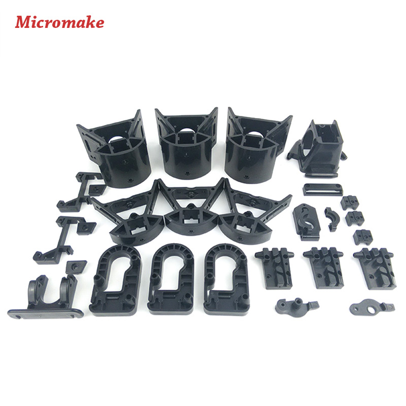 Micromake Kossel Delta 3D Printer Accessories Plastic Injection Parts  Whole Set of Injection Non-standard Parts micromake 3d printer pulley version diy kit metal 3d printer kossel delta with 8g sd card and test materials