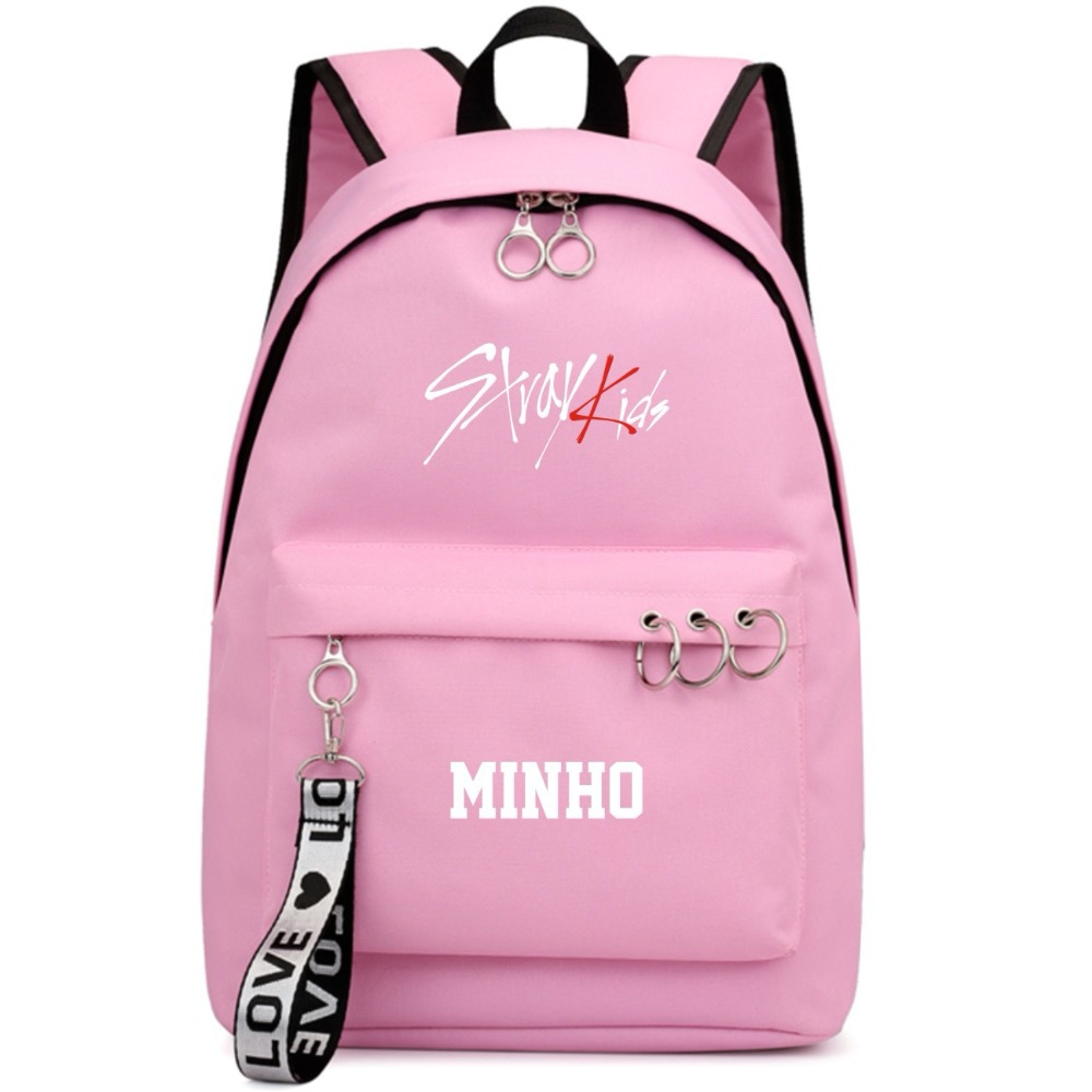 Men's Bags Backpacks Seventeen Pinted Korean Stars Fans Backpack School Bags Mochila Travel Bags Laptop Chain Backpack Headphone Usb Port