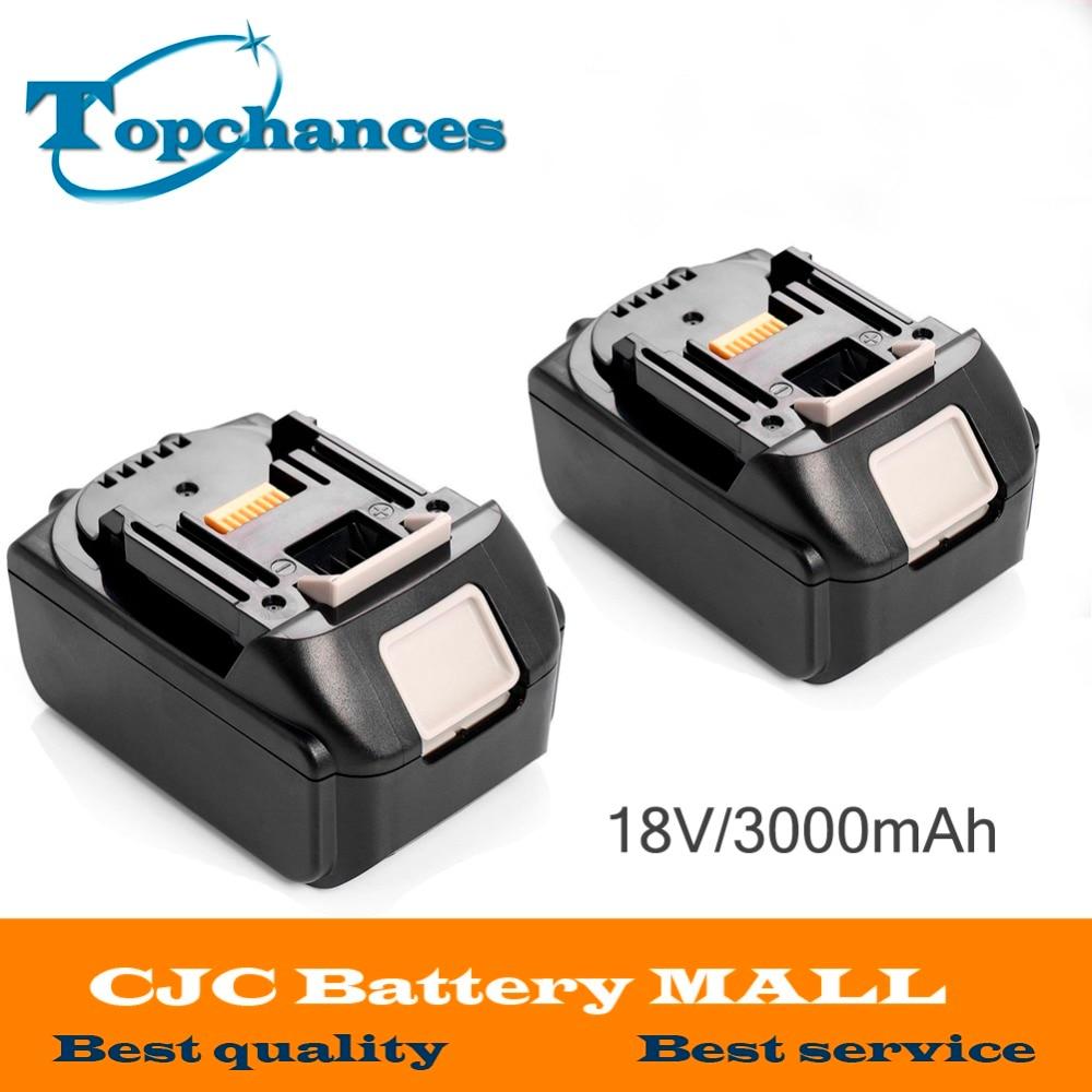 2PCS Brand NEW 3000mAh 18 VOLT Li-Ion Power Tool Battery for Makita BL1830 Bl1815 194230-4 LXT400 high quality brand new 3000mah 18 volt li ion power tool battery for makita bl1830 bl1815 194230 4 lxt400 charger