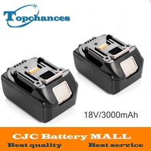 2PCS Brand NEW 3000mAh 18 VOLT Li-Ion Power Tool Battery for Makita BL1830 Bl1815 194230-4 LXT400