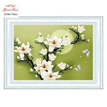 Needlework,DIY DMC Cross stitch,Sets For Embroidery kits,Magnolia Flowers Patterns 3D Counted Cross-Stitching,Wall Home Decro mnls diy dmc 3d cross stitching 0088