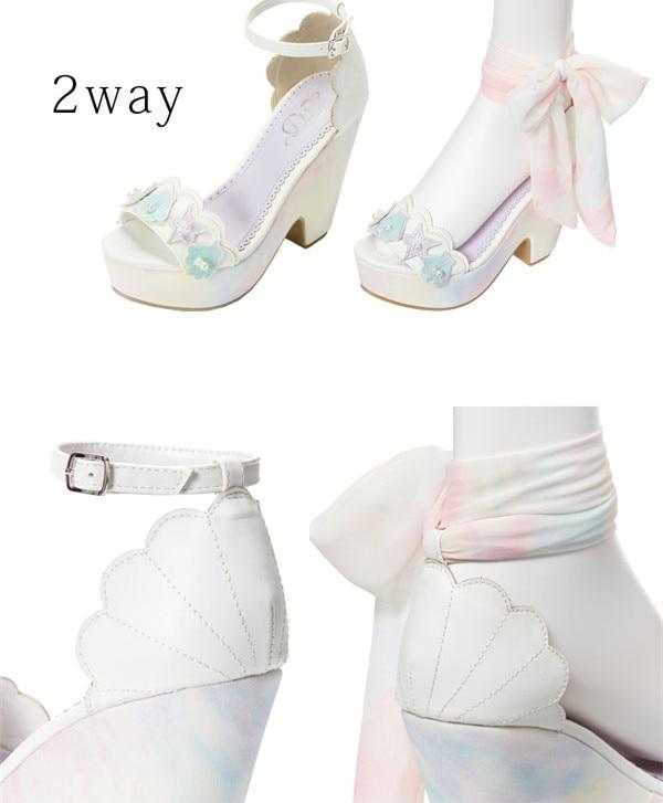 à hauts nouvelles sandales japonaises chaussures talons Les sangle shell couleur ruban CtBTqwaw