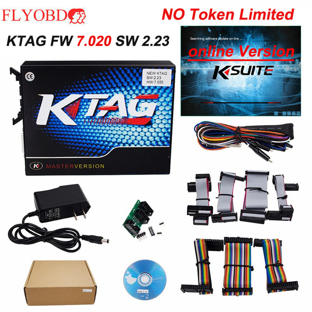 Big Sale Online Version KTAG 7.020 ECU Chip Tuning tool K-TAG V7.020 SW V2.23 K TAG For Car/Truck No Token Limite ECM titanium software
