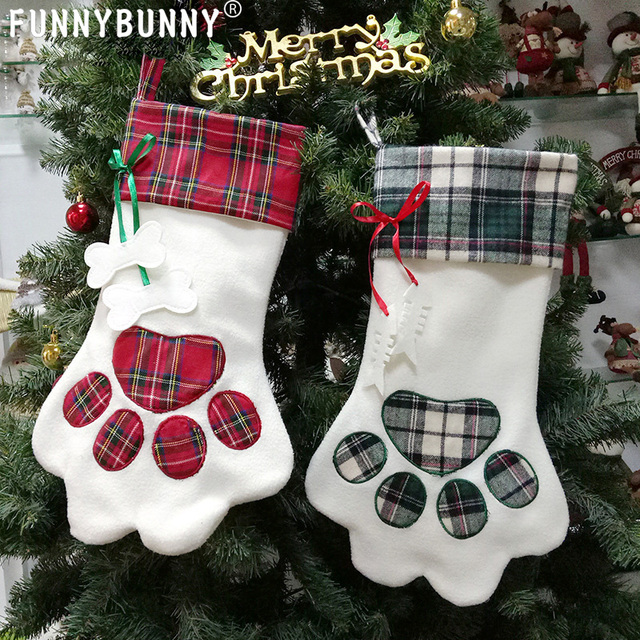 Dog Christmas Tree Meme.Us 12 25 30 Off Funnybunny Christmas Stocking For Pet Dog Cat Large Paw Stocking For Personalize In Stockings Gift Holders From Home Garden On