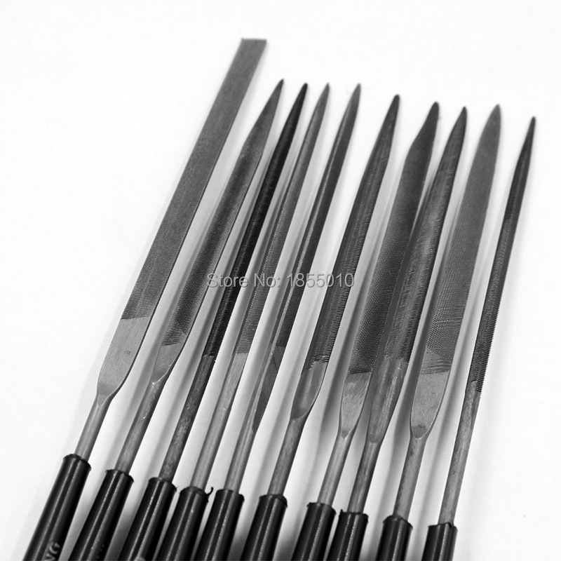 140mm 10pcs/Lot Needle Files Set Files For Metal Glass Stone Jewelry Wood Carving Craft Free Shipping