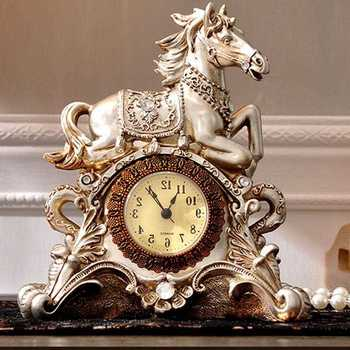 christmas decorations for home Riches and horses, living room, clock, clock, creative personality clock Art