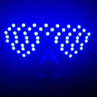 Hot Sale Blue Color Led Flashing Luminous Growing Halloween Party Glasses Eyewear For Event Supplies DJ Club Stage Show