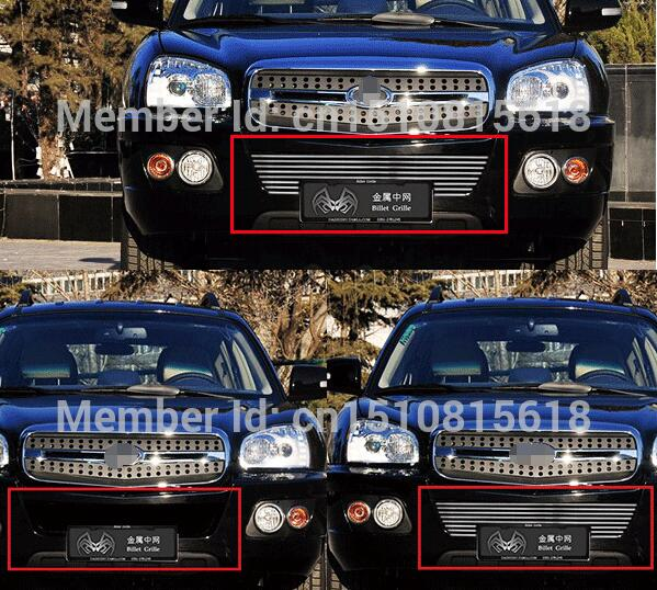 Quality Stainless steel Car front bumper Mesh Grille Around Trim Racing Grills 2010-2012 For Hyundai Santa Fe abs chrome front grille around trim racing grills trim for 2013 hyundai santa fe ix45
