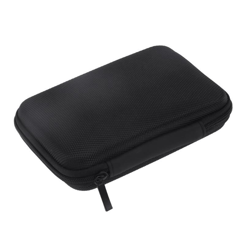 Alloyseed fones de ouvido saco de armazenamento difícil eva caso viagem levar fone de ouvido saco de armazenamento para 2.5 polegada hdd power bank caixa do fone de ouvido