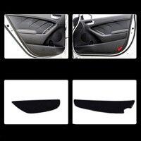 4pcs Fabric Door Protection Mats Anti kick Decorative Pads For Kia K3 2013 2015