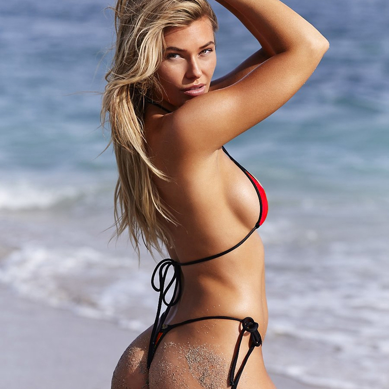 5179eb4552c1 € 4.44 5% de DESCUENTO Increíble Sexy Bikini brasileño Micro Mini String  Bikini Set barato Strappy Swimsuit mujer Vintage tejido traje de baño mujer  ...