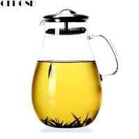 GFHGSD Glass Teaport Hot Resistance 1900ml Gift Tea Infuser Herbal Tea Mug Health Gaiwan Tea Port
