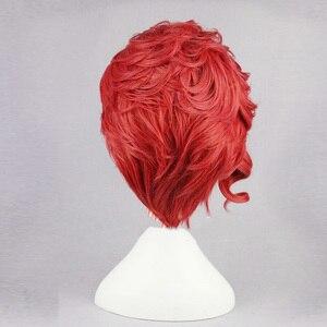 """Image 3 - Kakyoin Noriaki gelen JOJO 14 """"kırmızı kıvırcık kısa yüksek sıcaklık Fiber sentetik saç Cosplay peruk + peruk kap"""