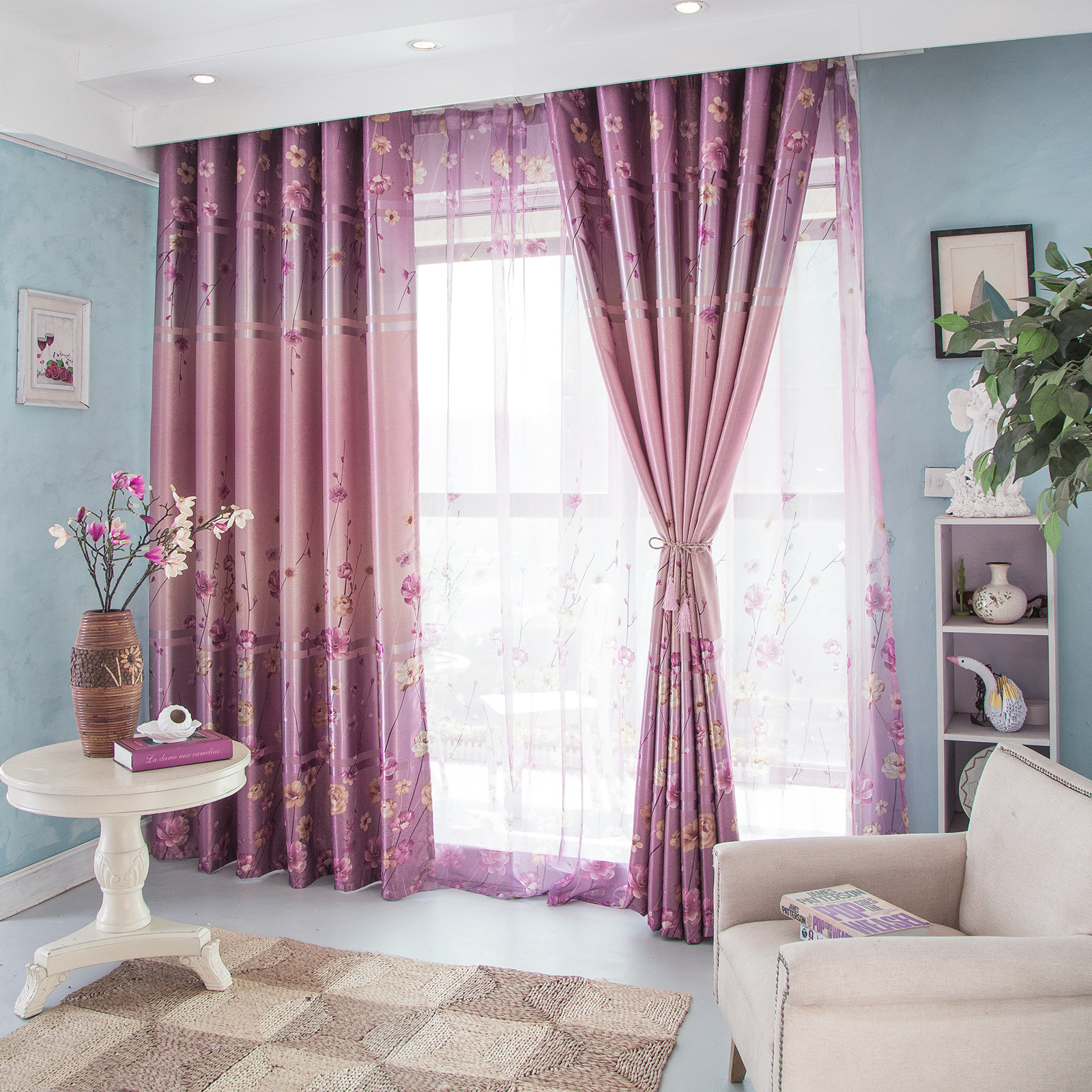 Curtains for bedroom 2016 - Curtains For Living Dining Room Bedroom 2016 New Curtain Living Room Bedroom Rural