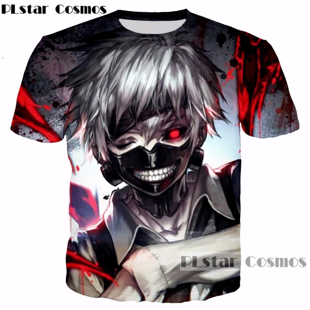 PLstar Cosmos 2017 new Men Women Harajuku Tee Shirt Anime Tokyo Ghoul t shirts Art Kaneki Print 3D t shirt Hipster Tees Tops