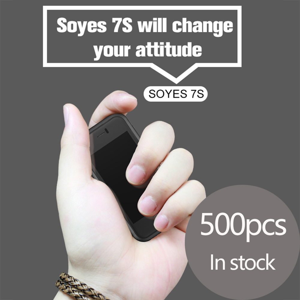 Super Mini Android Smart Phone SOYES 7S MTK Quad Core 1GB+8GB 5.0MP Dual SIM High Definition 8S Phone X black color