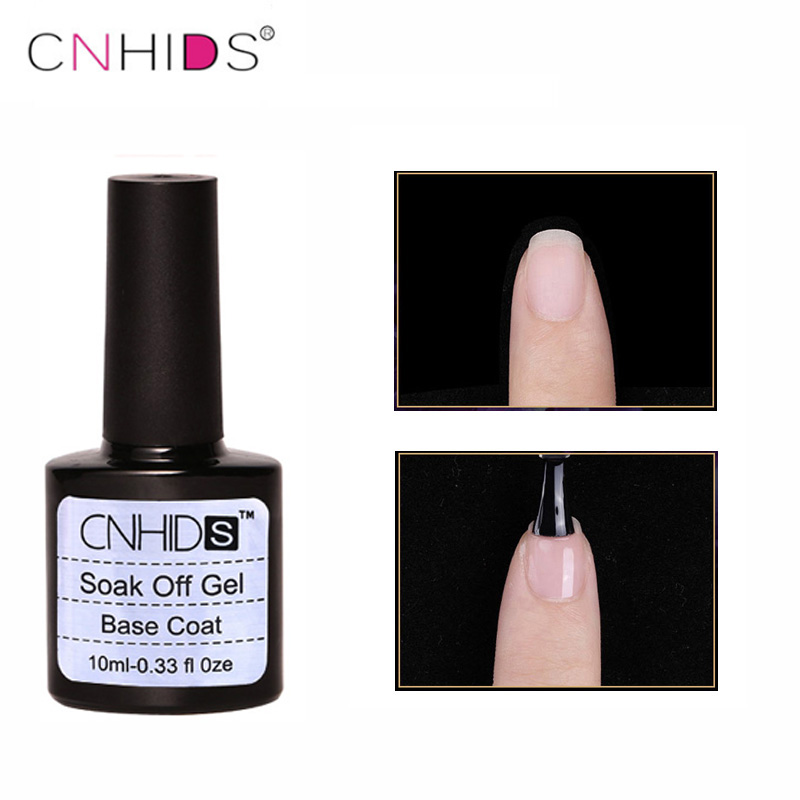 CNHIDS Base Coat Transparent UV Gel Unghie de Unghie 10ml Soak Off Long Duration Primer Lacuire Manichiura Manichiura Vernis Semi Permanent