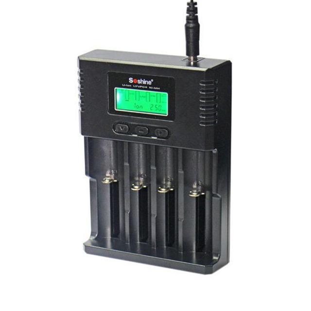 Carregador de bateria Para LI-ion Recarregável 26650 18650 16340 26650 Digicharger Display LCD de Alta Qualidade