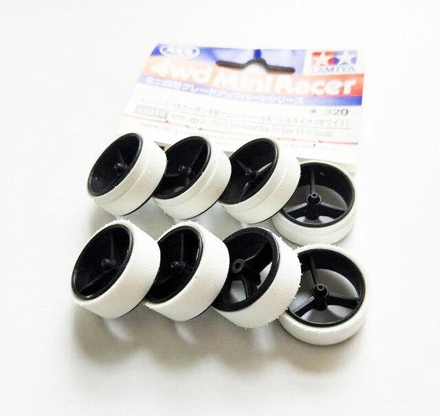 Neumáticos pulidos manuales 95254/15414 diámetro grande estrecho. Rueda y neumáticos arqueados blancos para SX SXX chasis Tamiya Mini 4WD modelo de coche
