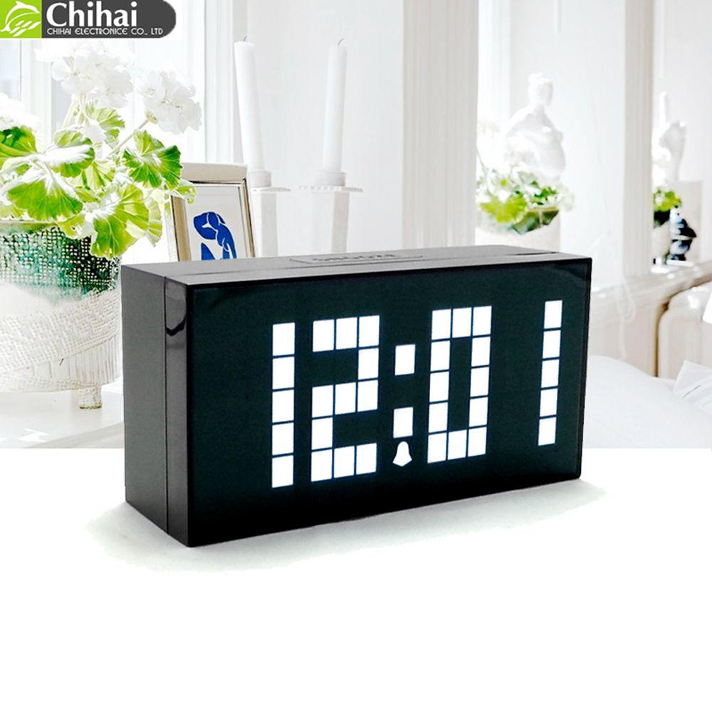 Alarm Digitale Uhr LED Tisch Uhr Einzigen Gesicht Display Temperatur Kalender Zeit Wohnkultur elektronische desktop uhren