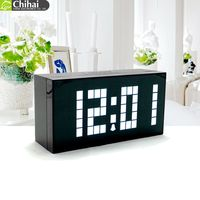 FREE SHIPPING Analog LED Digital Wall Watch Decorative Mirror Alarm Clock