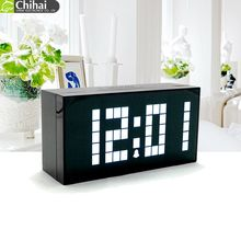 CH KOSDA Large Digital Decorative LED Digital Alarm Wall Clock Table Desktop Clock Temperature Calendar Big Large Number Snooze