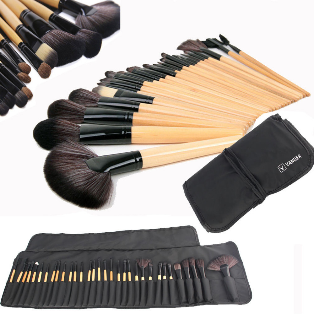 Vander Professional 32 Pcs Makeup Brushes Set Foundation Cosmetic Powder Multifunction Eyeliner Contour Blending Brush Tools Kit vander 8pcs professional rose pink