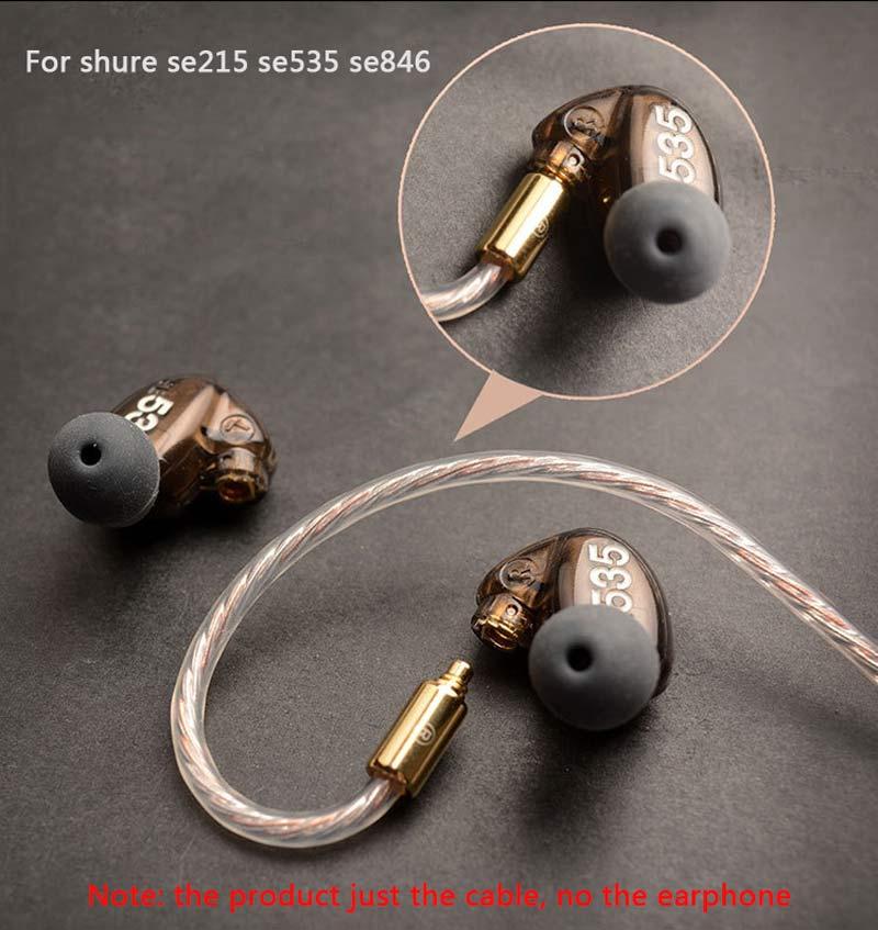 Mis à jour MMCX Remplaçable Câble pour Apple Téléphone Ci-dessous 10.2 Version pour Shure SE215 SE535 SE846 UE900 Écouteurs Audio Câbles Fil - 4