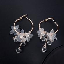 Drop Earrings Crystal Tassel Dangle Acrylic Flower Women Jewelry Accessories aretes artesanales de mujer orecchini rombo brincos