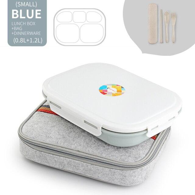 Blue 5 Compart Set Cheap bento boxes japanese bento 5c6479e2ed37e