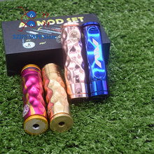 Avidlyfe Mod Kit 18650 Battery aluminum Mechanical mod Electronic cigarette kit with RDA 22mm drip atomizer vs AV Twistgyre kit newest hugsvape surge squonk kit 80w surge squonk mod with piper rda atomizer powered by single 18650 battery vs athena kit