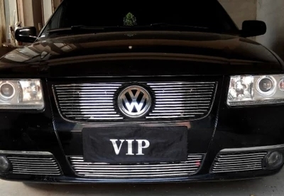 High quality stainless steel Front Grille Around Trim Racing Grills Trim Fo for 2010-2011 Volkswagen Vista