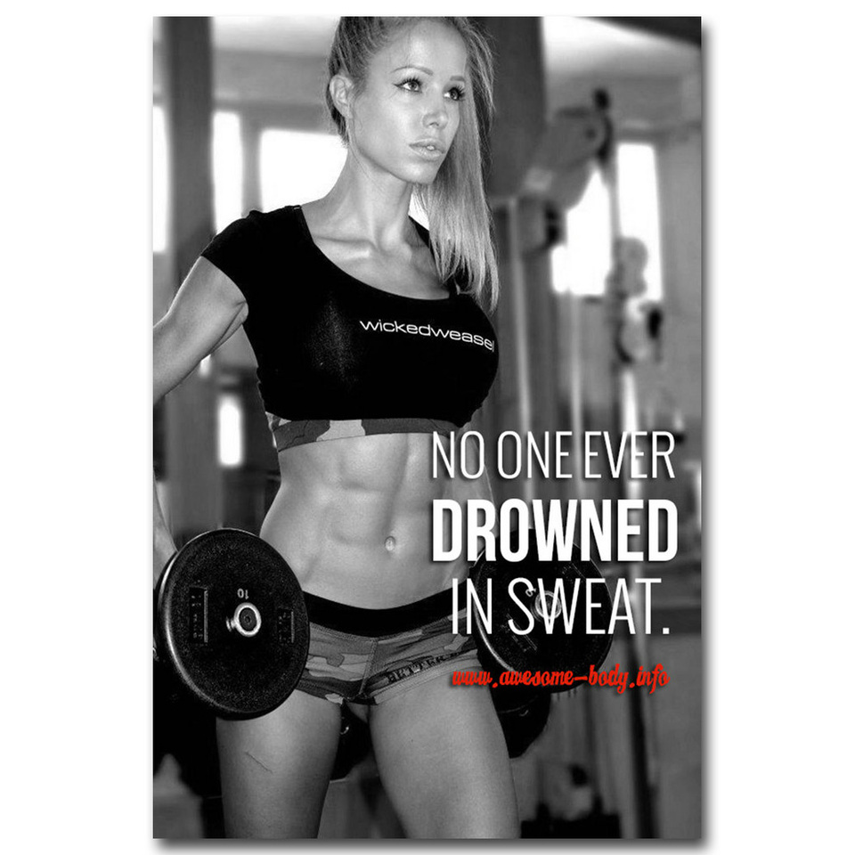 GYM Bodybuilding Silk Sport Poster 32x43 inch Keep Fit Muscle Exercise
