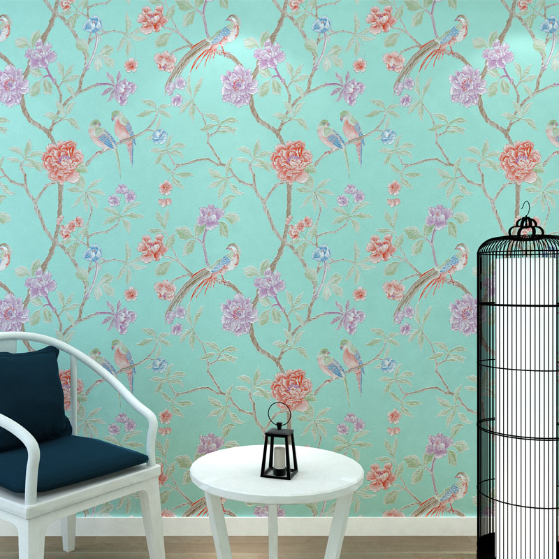 Modern Chinese Style Tree Mural Wallpapers Rustic Wallpaper 3 D Flower Birds Living Room Wall Paper Floral Peony Wall Paper Roll 3d purple lilies flower mural photo wallpapers roll for living room home wall decor lily floral wallpaper wall 3 d papel pared