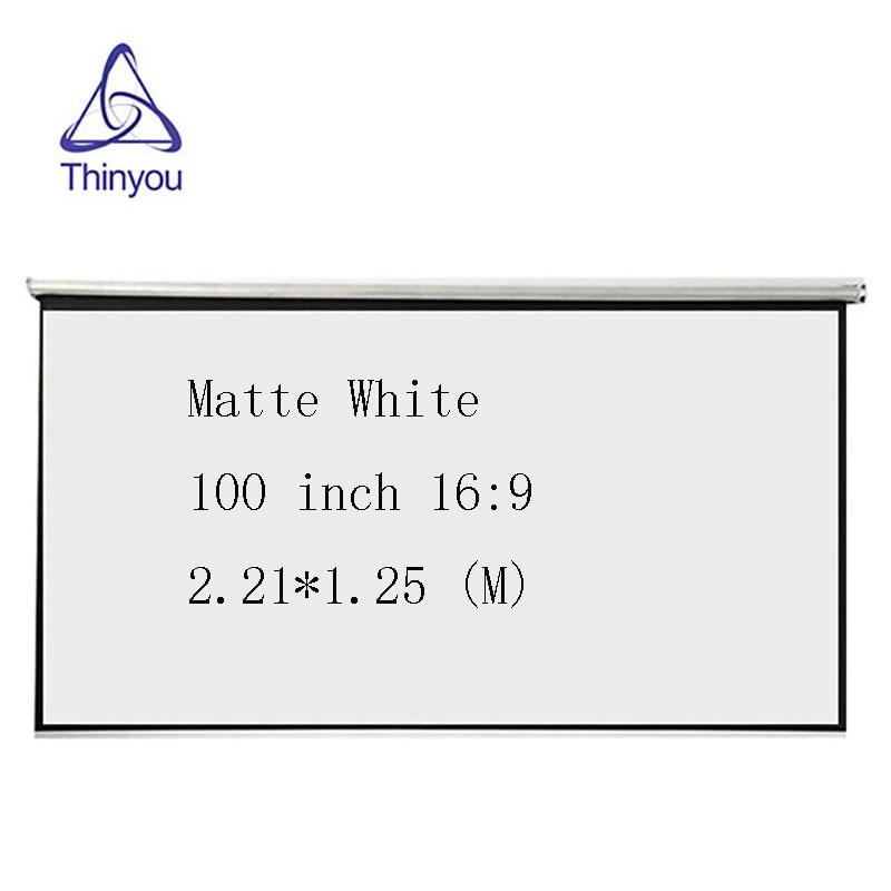Thinyou 100 inç 16: 9 Projektör HD Ekran rulo Ön Projeksiyon - Ev Ses ve Video