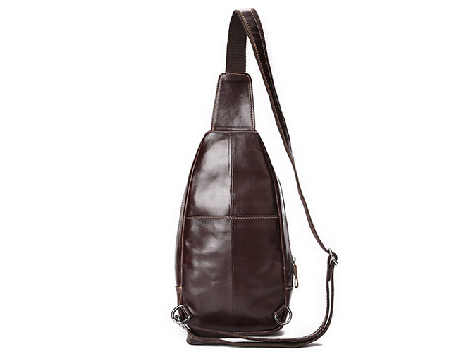 42febe530e Aliexpress.com   Buy Fashion Genuine Leather Men Shoulder Bag Trending  Leather Mens Crossbody Bag Coffee Chest Pack Man Bags  0132 from Reliable  men ...